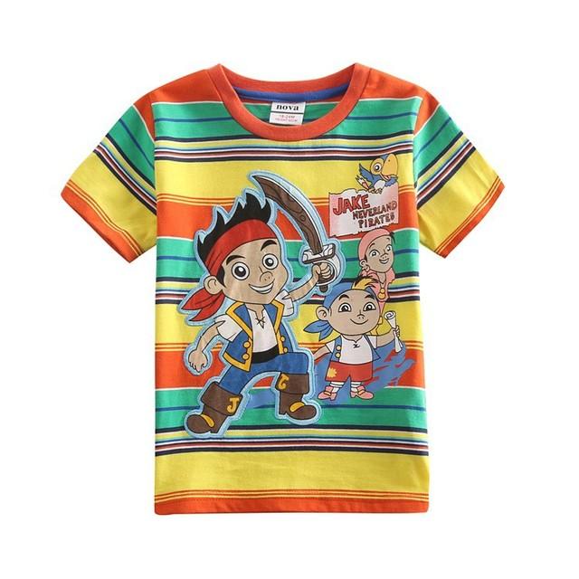 Ropa de los muchachos camiseta del verano Nova niños desgaste historieta de los muchachos niños de la camiseta del verano casual niños ropa de rayas estilo C4642