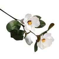 Искусственные Искусственные цветы лист магнолии цветочный свадебный букет вечерние украшения для дома РАСТЕНИЯ лаванды бытовой сад