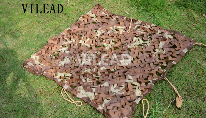 VILEAD 1.5M x 10M (5FT x 33FT) Desert Digital Camo Netting Military Army Camouflage Net Jungle Shelter for Hunting Camping Tent aa shield camo tactical scarf outdoor military neckerchief forest hunting army kaffiyeh scarf light weight shemagh desert dig