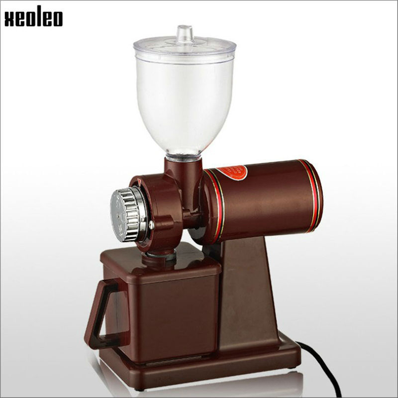 Xeoleo Electric Coffee grinder 600N Coffee mill machine Coffee Bean grinder machine flat burrs Grinding machine 220V Red/Black burr grinder coffee bean miller electric 220v electric coffee grinder coffee grinding machine powder mill
