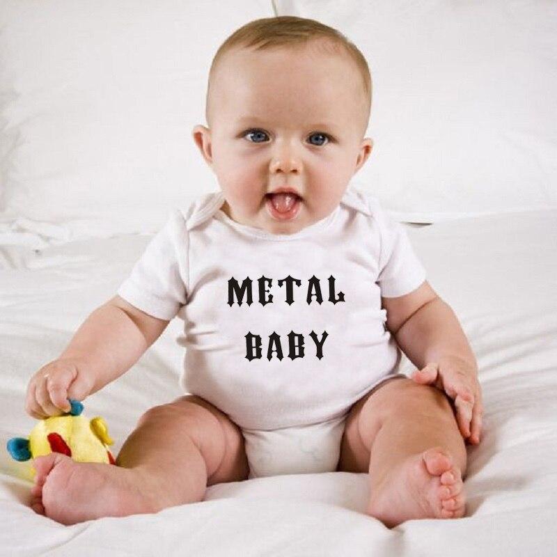 HY0070 Summer Short Sleeve Baby Comfortable Clothing Metal Baby Onesie Bodysuit