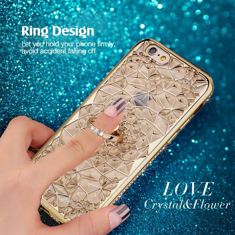 För iPhone 6S Fodral Glitter Crystal Rhinestone Bling Väska för - Reservdelar och tillbehör för mobiltelefoner - Foto 2
