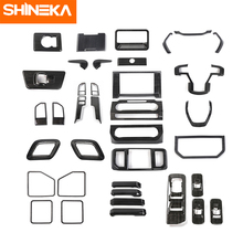 SHINEKA Car Dashboard Console Steering Wheel Air Vent Safety Belt Handle Shift Panel Interior Stickers Kit For Ford F150 2015+