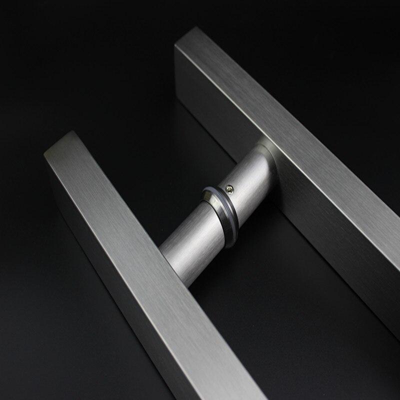 Unilocks 1 Pair Glass Door Handle Stainless Steel Square Tube