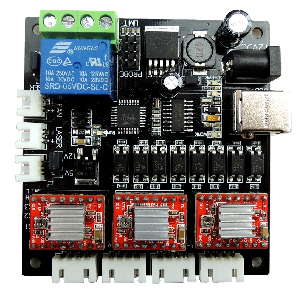 Free shipping GRBL Laser controller board CNC USB 3 Axis Stepper Motor Driver Controller Board for CNC Mini engraving machine