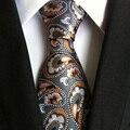Mantieqingway Marca Laços Xadrez Magro Gravata de Poliéster Impresso Gravata Gravata Gravata Para Homens Ternos De Negócio De Casamento Floral