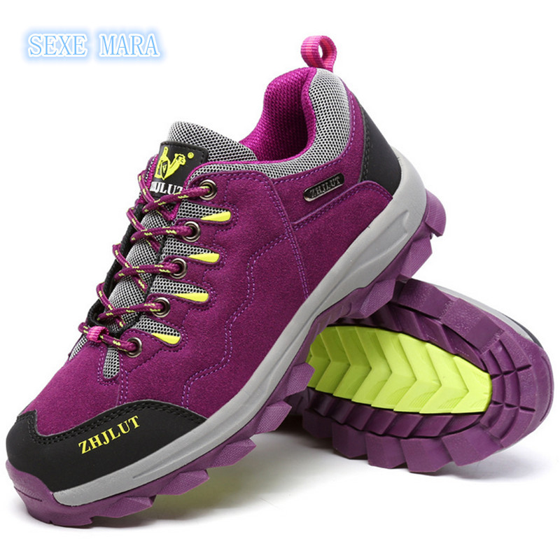 High Quality size 36-46 Outdoor Sports Shoes Women and Men Sneakers Running non-slip Off-road Waterproof performance Walking
