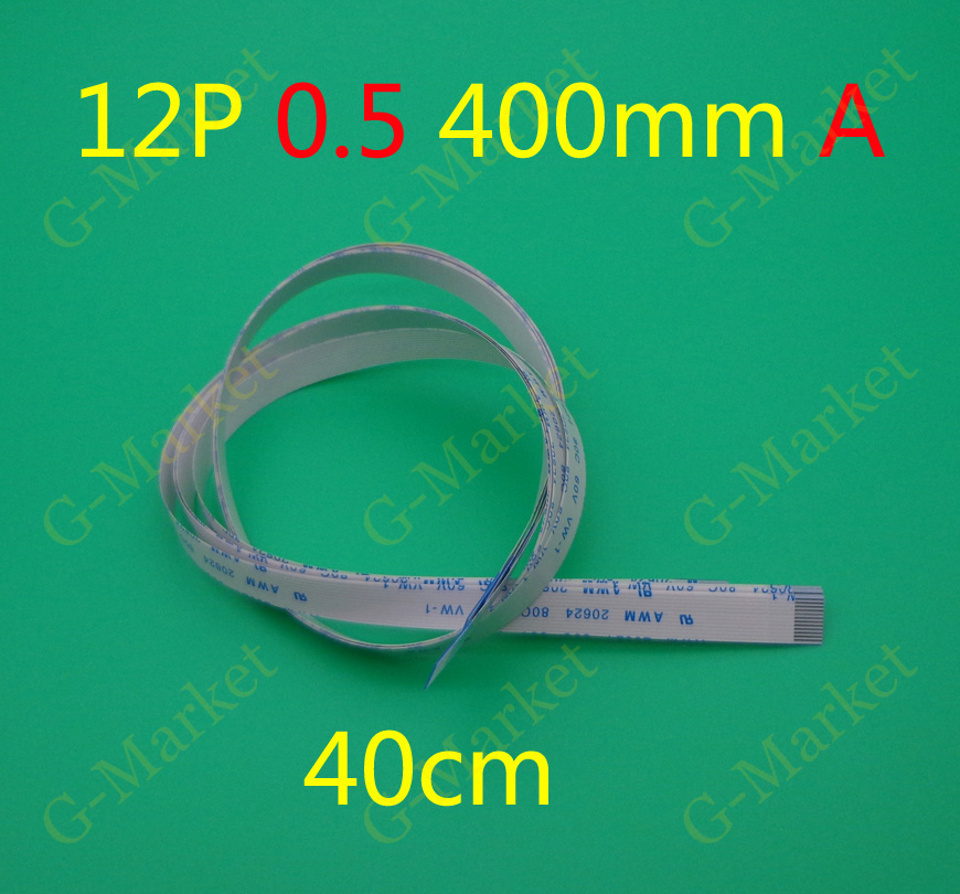 2-100pcs/lot New FFC FPC flat flexible <font><b>cable</b></font> 0.5mm pitch <font><b>12</b></font> <font><b>pin</b></font> 12PIN Forward Length 400mm Width 6.5mm Ribbon Flex <font><b>Cable</b></font> image