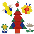 Wooden colorful geometric building blocks,Jigsaw puzzle,Children's intelligence development education toys