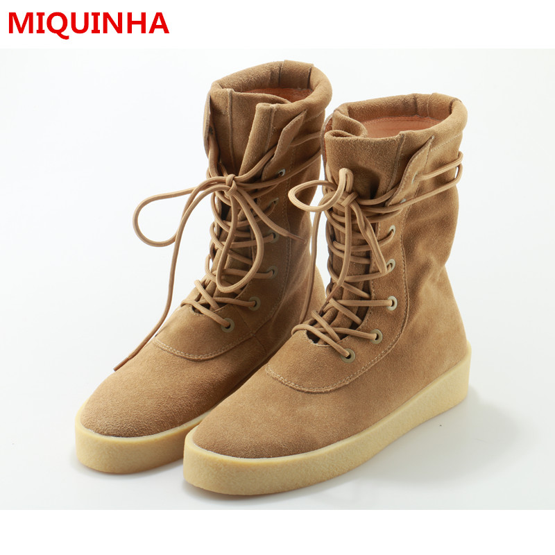2017 Autumn Winter Shoes Man Lace Up High Top Casual Boots Designer Suede Tide Cozy Man Boots Superstar Plus Size Male Footwear 2016 new autumn winter man casual shoes sport male leisure chaussure laced up basket shoes for adults black
