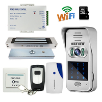 Free Shipping Code Keypad Unlock Wireless Wifi IP Doorbell Video Intercom For Android Phone 180kg Magnetic
