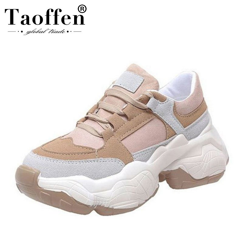 TAOFFEN Candy Colors 2019 Fashion Sneakers Vulcanized Shoes Women Young Lady Thick Bottom Walking Daily Club Sneaker Size 35-40TAOFFEN Candy Colors 2019 Fashion Sneakers Vulcanized Shoes Women Young Lady Thick Bottom Walking Daily Club Sneaker Size 35-40