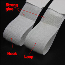 2.5cm*5m/Pairs Black White Magic Tape Hook and Loop Self Adhesive Fastener Tape Strip with Strong Glue for Home Supplies 2 5cm 5m pairs black white magic tape hook and loop self adhesive fastener tape strip with strong glue for home supplies