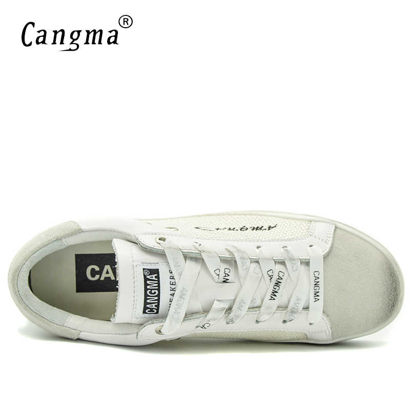 CANGMA Original Men รองเท้าผ้าใบลำลองรองเท้าสีขาว Basse หนังวัวหนัง Hemp Handmade Leisure รองเท้า Merk รองเท้า 34-48