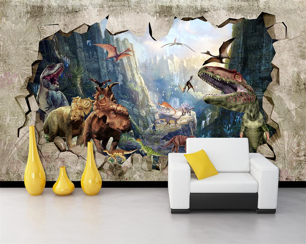 Beibehang papel de parede Cartoon 3D wallpaper ancient dinosaur kingdom 3D stereo TV store backdrop wall wallpaper for walls 3 d beibehang ktv gold silver square papel de parede 3d wallpaper rolls tv background of wall paper 3d modern wallpaper for walls 3d