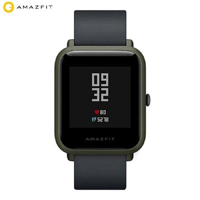 Международная версия Xiaomi Huami AMAZFIT Bip Smartwatch gps стеклянный гранулированный экран Gorilla сердечного ритма мониторы геомагнитных сенсор