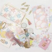 Dokibook Handmade Gift Stationeries Set For Notebook Planner Diy Accessories Tape Sticker Creative Stationery Sets For Girls