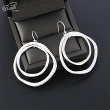 Badu Irregular Metal Earrings for Women Gold/Silver Zinc Alloy Stud Earring Fashion Jewelry Party Wholesale