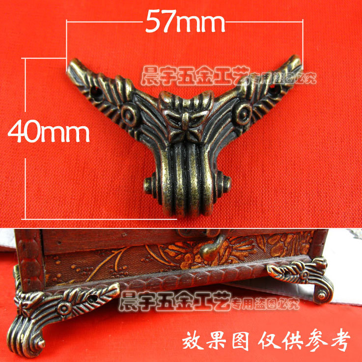 Aliexpress Com Buy Wholesale Furniture Hardware Jewelry Box Feet Corner Bracket Decorative Box Corners Feet Care Metal Corner 57 40mm 20pcs Lot From