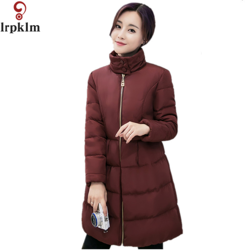 2017 New Fashion Women Winter Parka Jackets Warm Long Slim Coat And Jacket Female Big Sw ...