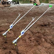 GHOTDA Stainless Steel Multifunctional Dual Telescoping Fishing Pole Hand Rod Holder