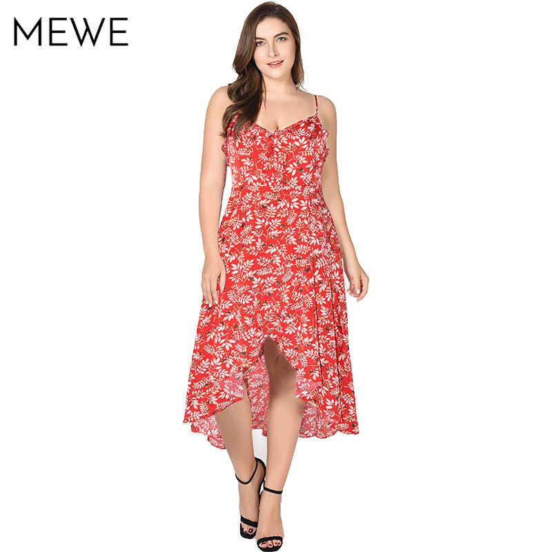 2018 New Summer Bohemian Dress Leaf Print Sundress 5xl 6xl 7xl Ruffle  Vacation Maxi Dresses Asymmetrical 3c36ab7aa531
