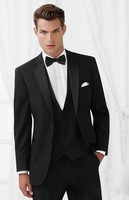 Custom Made Mens Suits Groom Tuxedos Groomsmen Wedding Party Dinner Best Man Suits Blazer (Jacket+Pants+Vest+Tie) NO:652