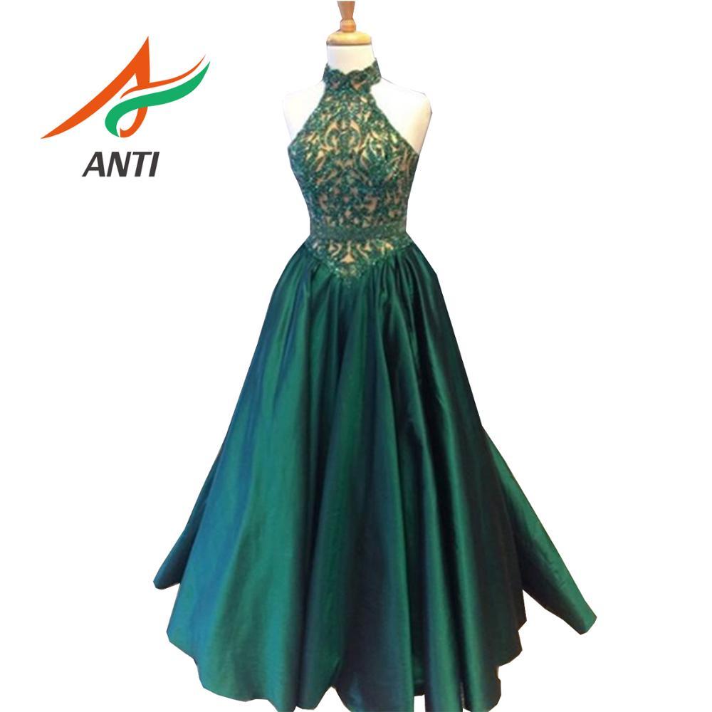 ANTI élégant robes De bal 2019 luxueux imprimé Floral dentelle Vestidos De Festa détachable Train sirène robes De soirée longueur au sol