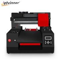 Jetvinner 2018 Automatic A3 UV Printer Inkjet Printer Commercial Flatbed Printers for Bottle, Phone Case, T shirt, Leather, Wood