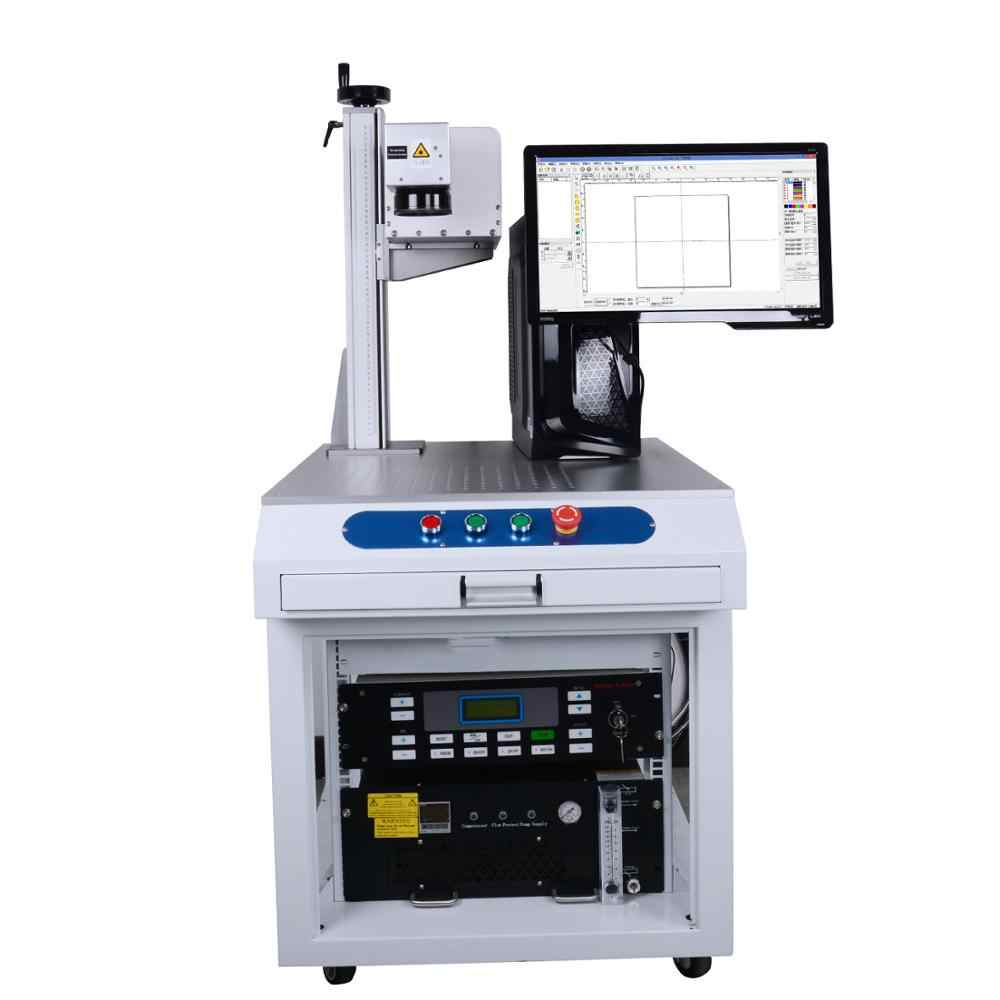 3 Вт 5 Вт УФ лазерная маркировочная машина 355нм DIY компьютерный лазерный гравер, клеймильная машина с логотипом