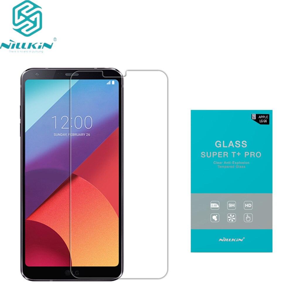 imágenes para Para lg g6 vidrio templado protector de pantalla de nillkin increíble t + pro vidrio templado de vidrio templado de cine para lg g6 (5.9 pulgadas)