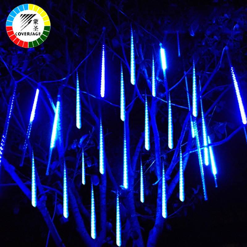 Coversage 30 см светодиод Метеоритный дождь Дождь Трубы Водонепроницаемый наружной отделки Шторы гирлянды Рождество дерево guirlande lumineuse