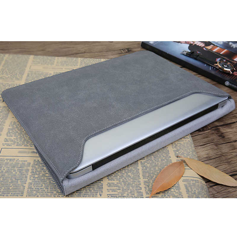 san francisco 16a3d d3814 Matte Magnetic Buckle PU Power Pack Laptop Sleeve Bag For Macbook Pro Air  11 13 15 Case Retina 12 new 13.3 15.4 touch bar Cover