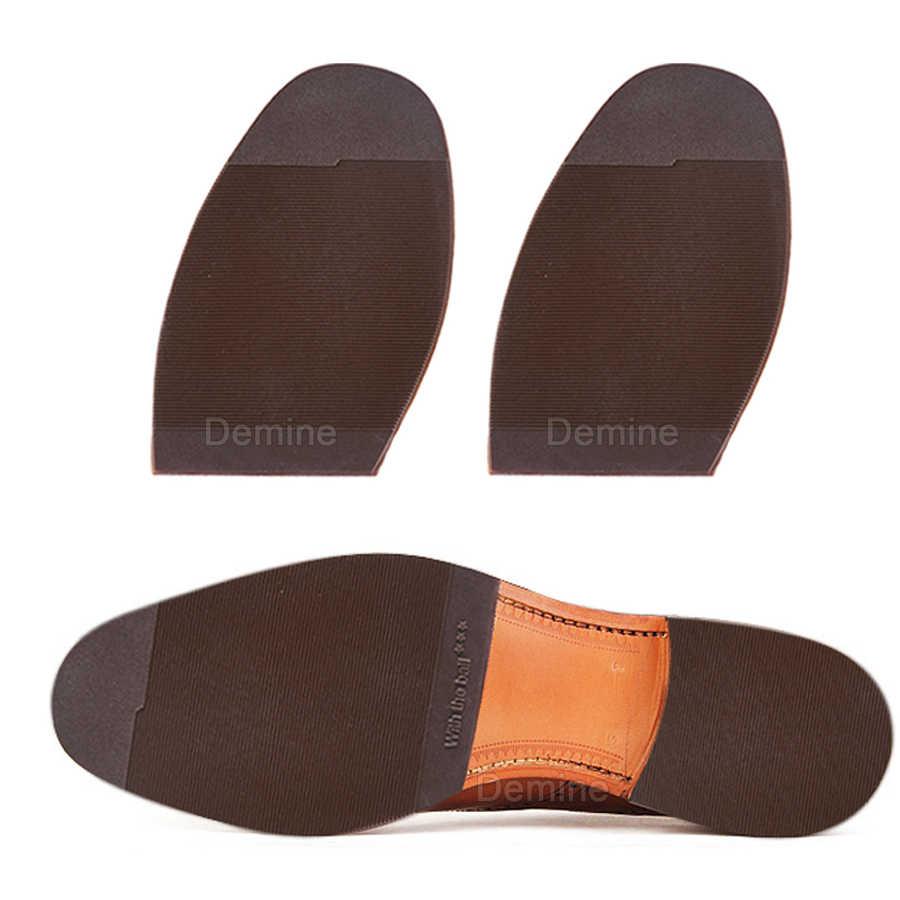 Rubber Schoenzolen Reparatie voor Mannen Lederen Schoenen Anti Slip Grond Grip Half Buitenzolen Vervanging DIY Mat Kussen Voorvoet Pad zool