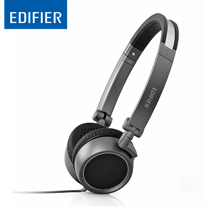 EDIFIER P690 Headset Earphone Comfortable Noise Isolating Over-Ear Headphones With Microphone And Volume Controls HiFi Earbuds meelectronics atlas on ear headphones with inline microphone and universal volume control