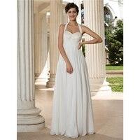LAN טינג הכלה ליין הלטר מקיר לקיר חתונת שמלת שיפון עם נצנצים שמלת כלה שתי וערב