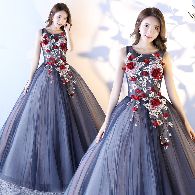 6a8b556424a Quinceanera Dresses Fashion New Grey with Pink Flower Cap Sleeves Sweet  Ball Gown Banquet Party Gwon Performance Dress Custom