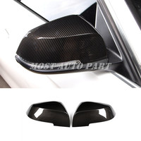 Carbon Fiber Style Rearview Mirror Trim Cover For BMW 1 Series F20 F21 2012 2018
