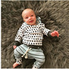 Spring Autumn Baby Clothes Toddlers Children Boy In Girl Deer With Hood Tops Pants 2 Pcs