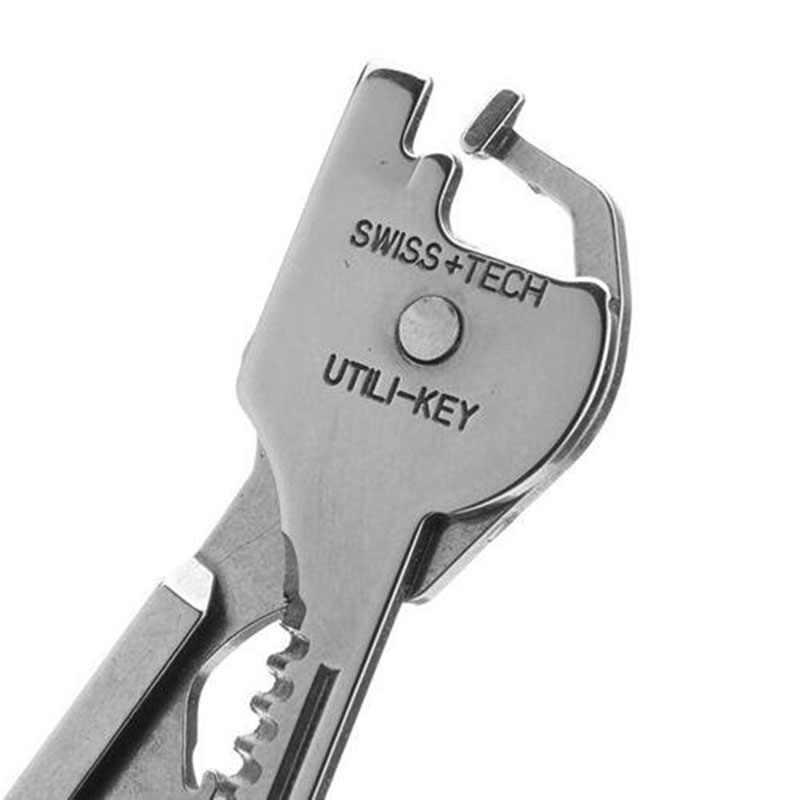 New 6 In 1 Utili-Key Pliers Mini Multitool Folding Pocket EDC Camping Outdoor Survival Hunting Screwdriver Kit Bits Hand Tools