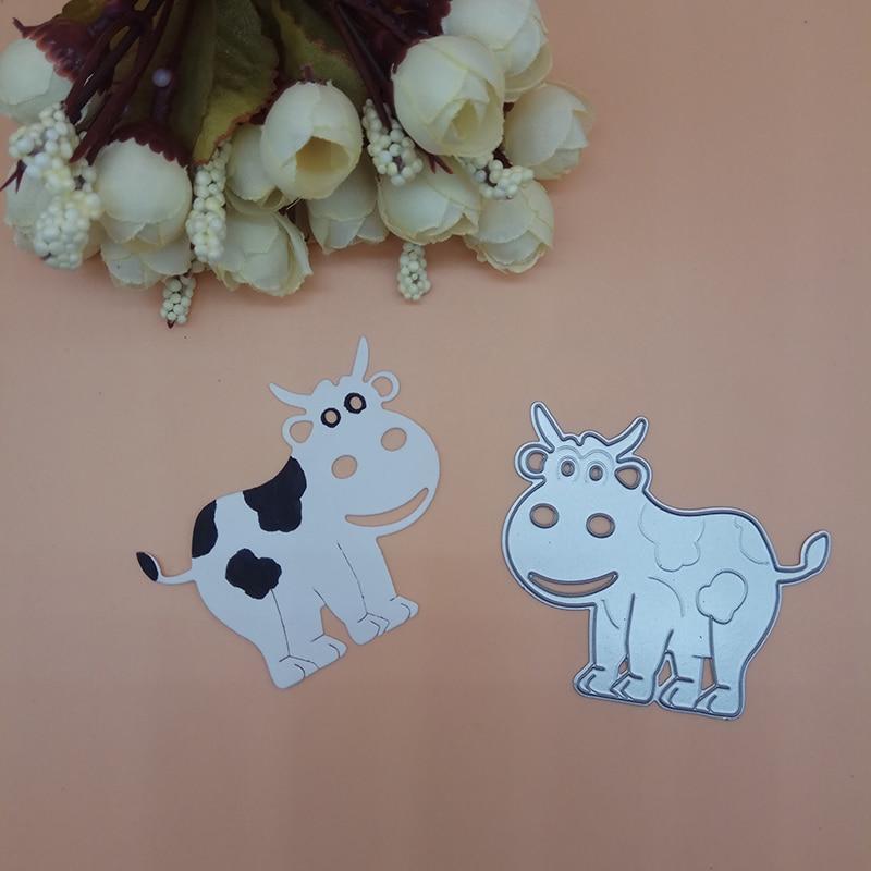Мультфильм молоко корова резки штампы перфоратор Скрапбукинг штампы металлические тиснения штампы и штампы для изготовления карт DIY
