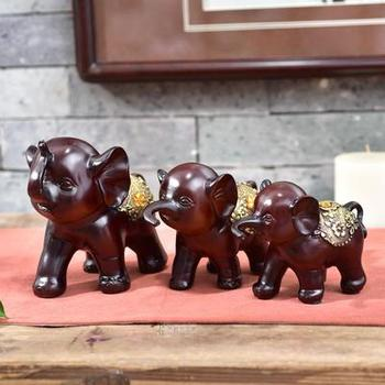 Three pieces of elephant resin The bedroom living room TV ark set out piece