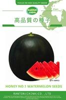 1 Original Pack 100pcs per pack Ranton Black Honey watermelon seeds Mature fruit is around 5~6kg high sugar brix fruits seeds
