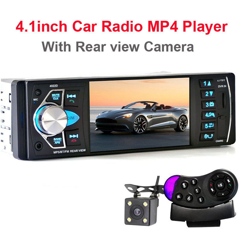 цена на 4022D Car Radio Player with Rear View Camera 4.1 inch Car MP3 MP5 Player Bluetooth FM Transmitter Stereo Audio for Music