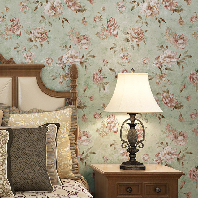 Beibehang Retro American Country Past Flowers Wallpaper For Walls 3 D Bedroom Living Room Wall Papers