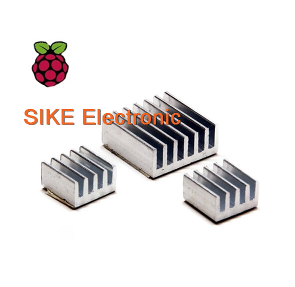 15Pcs 5Sets Adhesive Aluminum Heat Sink Cooler Kit for Raspberry Pi 2 Model B+