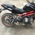 carbon fiber exhaust pipe Akrapovic motorcycle exhaust pipe muffler for yamaha tmax 500 t max 530  Yamaha FZ6 FAZER mt07 mt-07