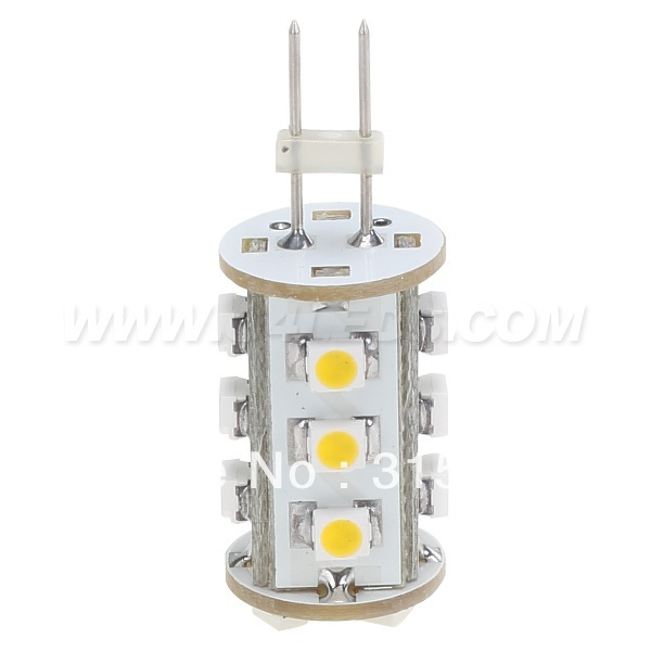 Free Shipment! G6.35 GY6.35 LED Corn Bulb Dimmable 12VDC 15leds 3528SMD 120LM White 1W /0.9W For Housing Car Spot lamp White 5 1w led bulb with ceramic housing