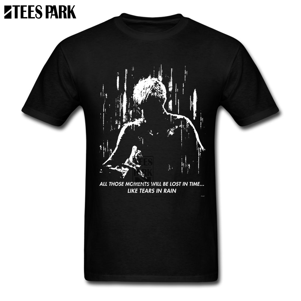 StreeWork T Shirts Blade Runner Like Tears in Rain Mens Designer T Shirts Men 100% Cotton Short Sleeve Clothes New Design Summer