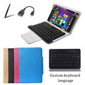 "Bluetooth Keyboard Case Stand Cover For Samsung GALAXY Tab 4 T231 T230 7"" Tablet Keyboard Language Layout Customize + Free Gifts"